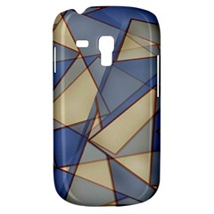 Blue And Tan Triangles Intertwine Together To Create An Abstract Background Galaxy S3 Mini by Simbadda