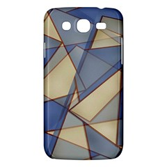 Blue And Tan Triangles Intertwine Together To Create An Abstract Background Samsung Galaxy Mega 5 8 I9152 Hardshell Case  by Simbadda