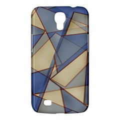 Blue And Tan Triangles Intertwine Together To Create An Abstract Background Samsung Galaxy Mega 6 3  I9200 Hardshell Case by Simbadda