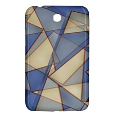 Blue And Tan Triangles Intertwine Together To Create An Abstract Background Samsung Galaxy Tab 3 (7 ) P3200 Hardshell Case  by Simbadda