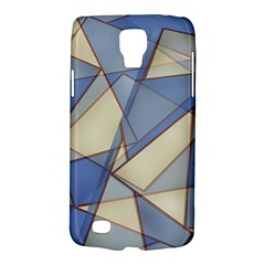 Blue And Tan Triangles Intertwine Together To Create An Abstract Background Galaxy S4 Active by Simbadda