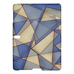 Blue And Tan Triangles Intertwine Together To Create An Abstract Background Samsung Galaxy Tab S (10 5 ) Hardshell Case  by Simbadda