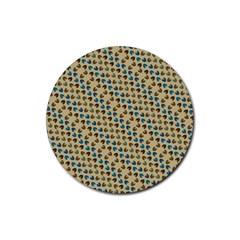 Abstract Seamless Pattern Rubber Coaster (round)  by Simbadda