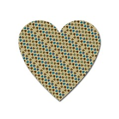 Abstract Seamless Pattern Heart Magnet by Simbadda