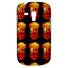 Paper Lanterns Pattern Background In Fiery Orange With A Black Background Galaxy S3 Mini by Simbadda