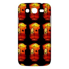 Paper Lanterns Pattern Background In Fiery Orange With A Black Background Samsung Galaxy Mega 5 8 I9152 Hardshell Case  by Simbadda