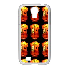 Paper Lanterns Pattern Background In Fiery Orange With A Black Background Samsung Galaxy S4 I9500/ I9505 Case (white) by Simbadda
