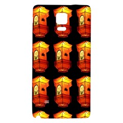 Paper Lanterns Pattern Background In Fiery Orange With A Black Background Galaxy Note 4 Back Case by Simbadda
