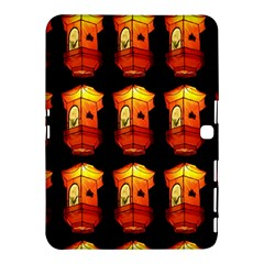 Paper Lanterns Pattern Background In Fiery Orange With A Black Background Samsung Galaxy Tab 4 (10 1 ) Hardshell Case  by Simbadda