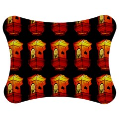Paper Lanterns Pattern Background In Fiery Orange With A Black Background Jigsaw Puzzle Photo Stand (bow) by Simbadda