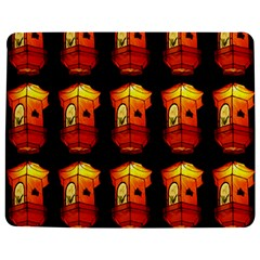 Paper Lanterns Pattern Background In Fiery Orange With A Black Background Jigsaw Puzzle Photo Stand (rectangular) by Simbadda