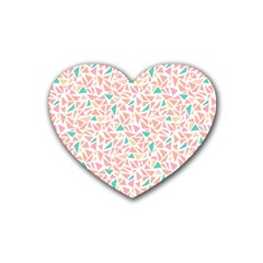 Geometric Abstract Triangles Background Rubber Coaster (heart)  by Simbadda