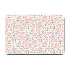 Geometric Abstract Triangles Background Small Doormat  by Simbadda