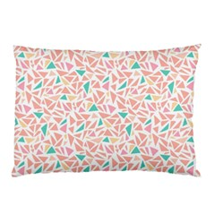 Geometric Abstract Triangles Background Pillow Case (two Sides) by Simbadda
