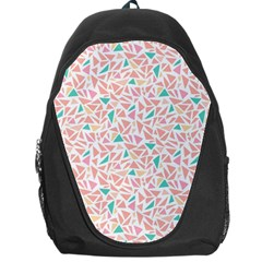 Geometric Abstract Triangles Background Backpack Bag by Simbadda