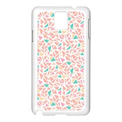 Geometric Abstract Triangles Background Samsung Galaxy Note 3 N9005 Case (white) by Simbadda