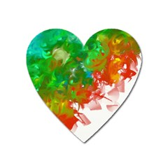 Digitally Painted Messy Paint Background Texture Heart Magnet by Simbadda