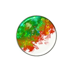 Digitally Painted Messy Paint Background Texture Hat Clip Ball Marker by Simbadda