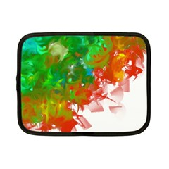 Digitally Painted Messy Paint Background Texture Netbook Case (small)  by Simbadda