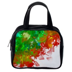 Digitally Painted Messy Paint Background Texture Classic Handbags (one Side) by Simbadda