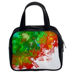 Digitally Painted Messy Paint Background Texture Classic Handbags (2 Sides)