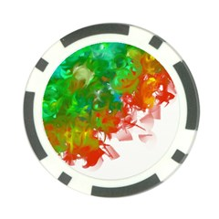 Digitally Painted Messy Paint Background Texture Poker Chip Card Guard (10 Pack) by Simbadda