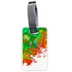 Digitally Painted Messy Paint Background Texture Luggage Tags (two Sides) by Simbadda