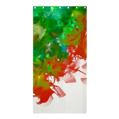 Digitally Painted Messy Paint Background Texture Shower Curtain 36  X 72  (stall)  by Simbadda