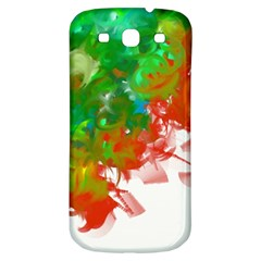 Digitally Painted Messy Paint Background Texture Samsung Galaxy S3 S Iii Classic Hardshell Back Case by Simbadda