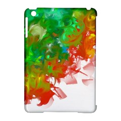 Digitally Painted Messy Paint Background Texture Apple Ipad Mini Hardshell Case (compatible With Smart Cover) by Simbadda