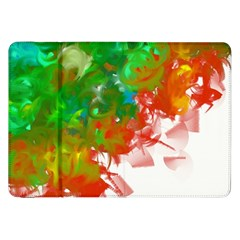 Digitally Painted Messy Paint Background Texture Samsung Galaxy Tab 8 9  P7300 Flip Case by Simbadda