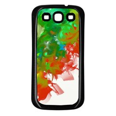 Digitally Painted Messy Paint Background Texture Samsung Galaxy S3 Back Case (black) by Simbadda