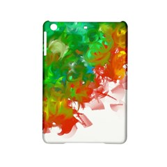 Digitally Painted Messy Paint Background Texture Ipad Mini 2 Hardshell Cases by Simbadda