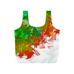 Digitally Painted Messy Paint Background Texture Full Print Recycle Bags (s)  by Simbadda