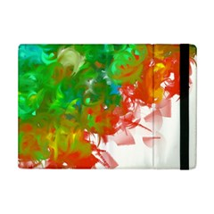Digitally Painted Messy Paint Background Texture Ipad Mini 2 Flip Cases by Simbadda