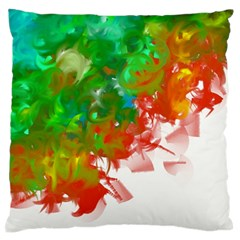 Digitally Painted Messy Paint Background Texture Large Flano Cushion Case (two Sides) by Simbadda