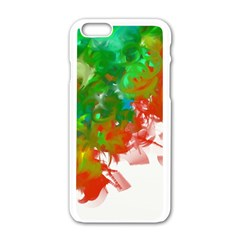 Digitally Painted Messy Paint Background Texture Apple Iphone 6/6s White Enamel Case by Simbadda