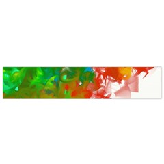 Digitally Painted Messy Paint Background Texture Flano Scarf (small) by Simbadda
