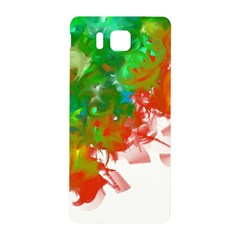 Digitally Painted Messy Paint Background Texture Samsung Galaxy Alpha Hardshell Back Case by Simbadda
