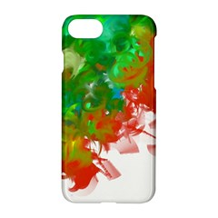 Digitally Painted Messy Paint Background Texture Apple Iphone 7 Hardshell Case by Simbadda