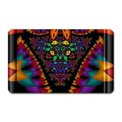 Symmetric Fractal Image In 3d Glass Frame Magnet (rectangular) by Simbadda
