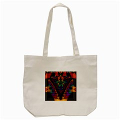 Symmetric Fractal Image In 3d Glass Frame Tote Bag (cream) by Simbadda