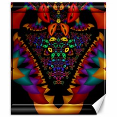 Symmetric Fractal Image In 3d Glass Frame Canvas 20  X 24   by Simbadda