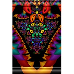 Symmetric Fractal Image In 3d Glass Frame 5 5  X 8 5  Notebooks by Simbadda