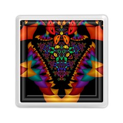 Symmetric Fractal Image In 3d Glass Frame Memory Card Reader (square)  by Simbadda