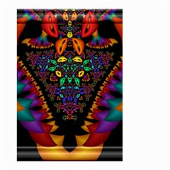 Symmetric Fractal Image In 3d Glass Frame Small Garden Flag (two Sides) by Simbadda