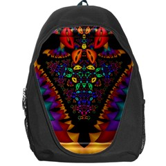 Symmetric Fractal Image In 3d Glass Frame Backpack Bag by Simbadda