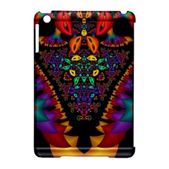 Symmetric Fractal Image In 3d Glass Frame Apple Ipad Mini Hardshell Case (compatible With Smart Cover) by Simbadda
