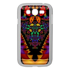 Symmetric Fractal Image In 3d Glass Frame Samsung Galaxy Grand Duos I9082 Case (white) by Simbadda