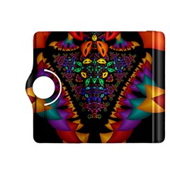 Symmetric Fractal Image In 3d Glass Frame Kindle Fire Hdx 8 9  Flip 360 Case by Simbadda